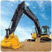 沙挖机运输车模...