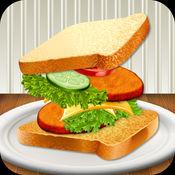 三明治面包烹饪 - 放一个食物