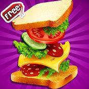 三明治制造商 — — 快速食品烹饪游戏孩子