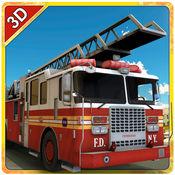 消防救援卡车模...