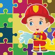消防员拼图游戏的学龄前 1