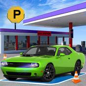 跑车加油站停车场 - 公路驾驶 1