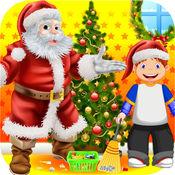 圣诞老人 条款 小 帮手 为 圣诞节 2014 年 高兴 节日 费 孩子们 游戏