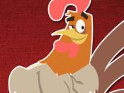 年的公鸡动画贴纸