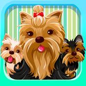 约克夏狗. 表情符号 狗小狗 和 可爱 贴纸的狗 Dog Emoji