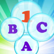 字母,气泡和数字,...