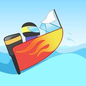真棒摩托艇波赛车亲 - 冷水赛车游戏