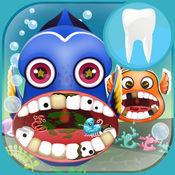 发现鱼牙医. 牙医游戏鱼 医生诊所鲨鱼 为孩子们最好的游戏 Little Fish Dentist