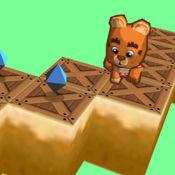 Zigzag jumpy bear 3D - 跳跃和运行是一个曲折的道路无尽的迷宫