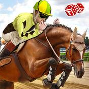 赛马模拟器3D - 皇家赛马马术模拟游戏的山德比轨道 1