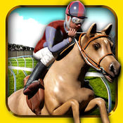 跑马骑马的运行免费 - 3D 跳跃 & 赛跑马赛车游戏