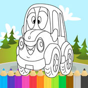 汽车图画书 - 学习车辆为孩子