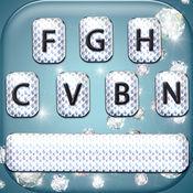 钻石键盘 – 有光泽的主题与亮粉彩色文本字体 1