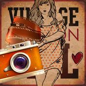 复古模特兒摄影师
