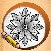 学画花纹身 1