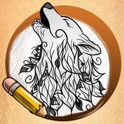 学画画 纹身狼 版 1