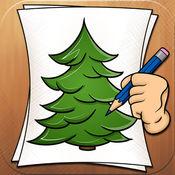 学着去画画树