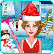 酒店清洁游戏的女孩 - 圣诞游戏