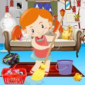 房子清理装饰游戏,女孩家庭清洁