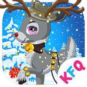 圣诞麋鹿 - 西方节日装扮,女生儿童教育小游戏
