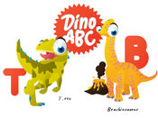 ABC Dinosaur Big Eye Collection 貼紙 1