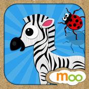 动物世界 - 幼儿园游戏 ,动物拼图和图画本 (中英动物集) v