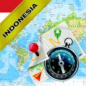 印度尼西亚(包括巴厘岛)- 离线地图和GPS导航仪