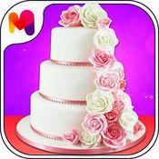 如何在家里做一个蛋糕 - 婚礼蛋糕爱情游戏制作女孩和女人