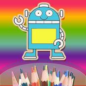 幼儿 宝宝 儿童最爱的魔力涂色书 - 快乐小孩认识颜色帮机器人上色和涂鸦