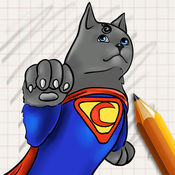 让我们画猫超级英雄 1