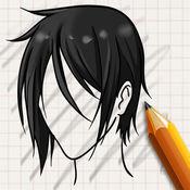 让我们画流行发型 1