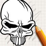 让我们画骷髅纹身 1