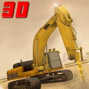 城市道路工程起重机械操作员的3D模拟器