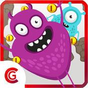 疯狂的怪物跳跃的冒险 - 笨拙的怪兽小游戏传奇免费