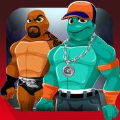 龟作战. 装扮海龟游戏 龟摔跤手战斗 设备专业服饰战斗 为孩子们最好的游戏