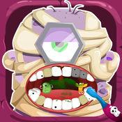 腦筋急轉彎电影牙医玩的医生和清洁口腔的医生和牙医医院免费游戏的牙齿 (Inside Dentist Doctor 2)