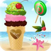 我的冷冻冰淇淋圣代机 - 虚拟糖果锥糖流行棉派对游戏店
