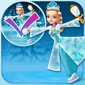 我的滑冰雪公主绘制和复制游戏 - 广告免费应用程序 1