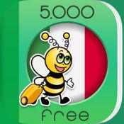 5000条短语 - 免费学习意大利语语言 - 来自于 FunEasyLear