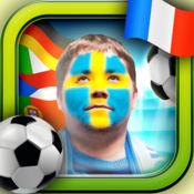面对国旗照片编辑器 : 欧洲杯2016年对于版足球迷 – 支持你的的国家队