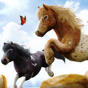 神奇卡通小马免费动物园赛车游戏