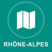 罗纳 - 阿尔卑斯大区,法国 : 离线GPS导航