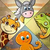 82动物孩子们拼图-儿童教育游戏与发音,声音和真实的照片 - 可爱拼图动物的名字,声音,真实的图片,视频和有趣的事实