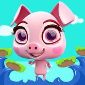 疯狂的小猪跳跃类游戏 - 笨拙的的小猪在森林中运行