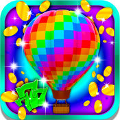 幸运的多彩气球插槽:有乐趣的神奇的氦气球进行特殊对待黄金