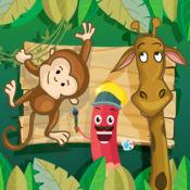 动物和动物园着色书。 孩子们的游戏 1