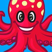 海洋动物拼图 - 可爱宝宝第一块拼图与海洋动物为孩子和幼儿包括宠物着色书