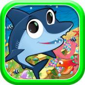 海洋战斗鱼游戏的孩子
