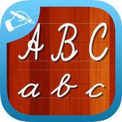 手写输入工作表学会颜色和 abc 字母写在脚本和草书 1.1