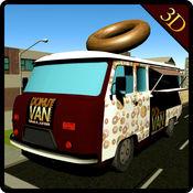 甜甜圈面包车送货模拟器和驾驶卡车